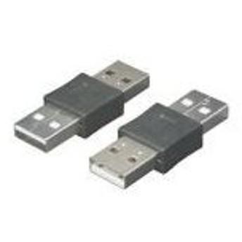 (まとめ)変換名人 USB中継 A(オス)-A(オス) USBAA-AA〔×20セット〕【配達日時指定不可】