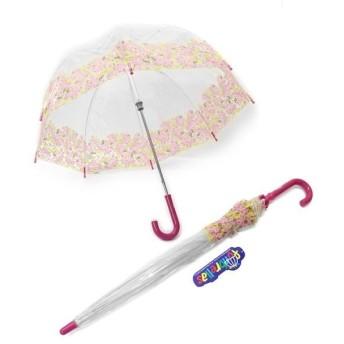 Fulton (フルトン) C605 28315 Funbrella-4 Pretty Petals 子供用 キッズ用 ビニール傘 長傘 バードケージ ミニ アンブレ...〔代引不可〕【配達日時指定不可】