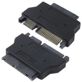 (まとめ)変換名人 SATAドライブ変換 microSATA-SATA ドライブ SATAMI-SATA〔×5セット〕【配達日時指定不可】