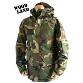 アメリカ軍 ECWC S-1ジャケット/ゴアテックス風パーカー 〔 XSサイズ 〕 透湿防水素材 JP041YN ウッドランド カモ/迷彩 〔 レプリカ 〕【配達日時指定不可】