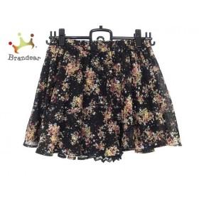 ページボーイ PAGEBOY スカート サイズM レディース 美品 黒×マルチ           スペシャル特価 20190403