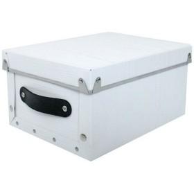 〔4個セット〕 マルチ収納ボックス 〔モジュールタイプ/クオーター ホワイト〕 『アンティークスタイルボックス』【配達日時指定不可】