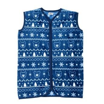 ミキハウス フリース素材のスリーパー 紺