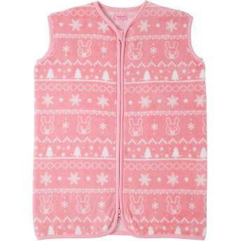 ミキハウス フリース素材のスリーパー ピンク