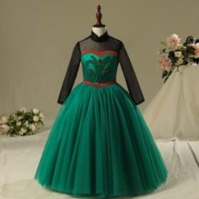 キッズ 女の子 ガールズ プリンセス ドレス ハロウィン プリンセスドレス 衣装 エルサ 風 2色