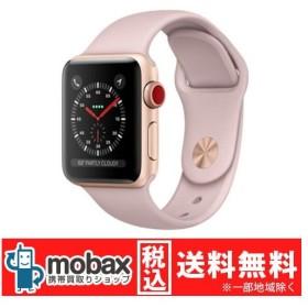 キャンペーン◆【新品未開封品(未使用)】Apple Watch Series 3 38mm GPS+cellularモデル MQKH2J/A [ゴールドアルミニウム/ピンクサンドスポーツバンド]