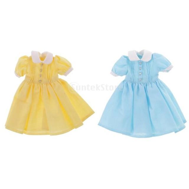 ドール素敵なドレス ブライスドールアクセサリー用 新しい 12.5cm ラブリードレス服 服装 ボタン カラー