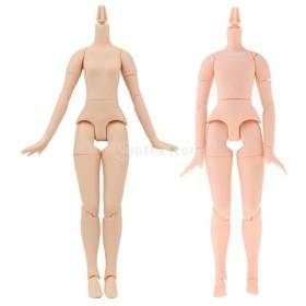 ネオ ブライスドールのためヌードボディ 少年+少女 ジョイントヌード人形ドール 2セット