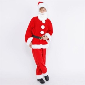クリスマスコスプレ/衣装 〔XM ポンポンサンタ〕 着丈約82cm 『Patymo』 〔イベント パーティー〕【配達日時指定不可】