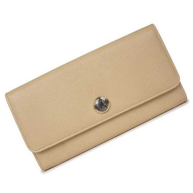 67ecd7e05fc5 ブルガリ カーフ 二つ折り長財布 モネーテ コインモチーフ ベージュ 35964(新品・未使用