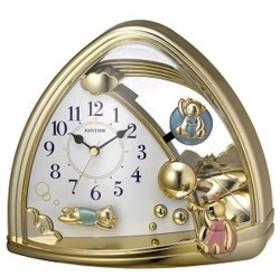 リズム時計 4SG762SR18(金色仕上) ファンタジーランド762SR クオーツ置時計