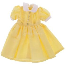 12インチブライス人形適用 素敵 綺麗 ドレス 服 全3色選ぶ - イエロー