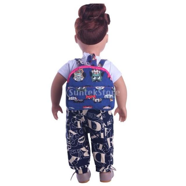 c0272bb9dbf4e Lovoski 18インチ アメリカンガール人形適用 ドール ミニ かわいい 通学 バックパック アクセサリー ...