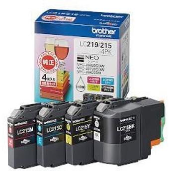 ブラザー LC219BK/215-4PK 純正 インクカートリッジ 4色パック 大容量