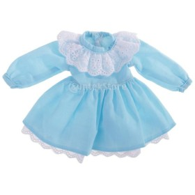 人形 可愛い 1/6スケール   2レイヤー  花 スカート ドレス 12インチボールジョイントドール適用 アクセサリー 全3色 - ブルー