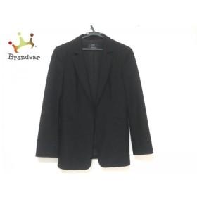ニジュウサンク 23区 ジャケット サイズ38 M レディース 美品 黒 肩パッド           スペシャル特価 20191016