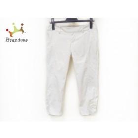 ピンキー&ダイアン Pinky&Dianne パンツ サイズ38 M レディース 白 サイドギャザー           スペシャル特価 20190905