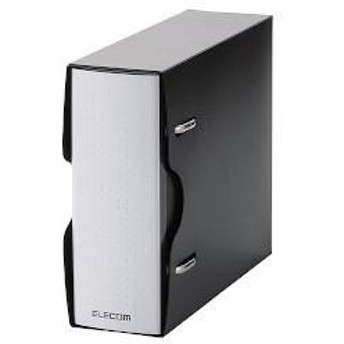 エレコム CCD-BC02BK(ブラック) ファイル DVD CD不織布ケース 2穴リング式トレイ専用 1冊