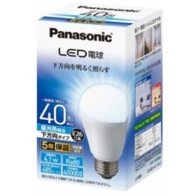 パナソニック LED電球(昼光色) E26口金 40W形相当 485lm LDA4DHEW2