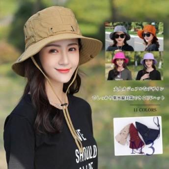サファリハット UVカット アドベンチャーハット ハット つば広 飛ばない 日よけ 紫外線 折りたたみ 帽子 つば広 レディース 帽子 つば広