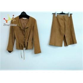ジルスチュアート JILL STUART スカートスーツ サイズS レディース ライトブラウン レザー   スペシャル特価 20190711