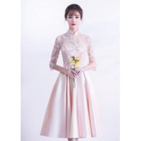 袖あり パーティードレス 結婚式 ワンピース ドレス 大きいサイズ 結婚式ドレス 20代 結婚式 ドレス お呼ばれ ワンピース 30代