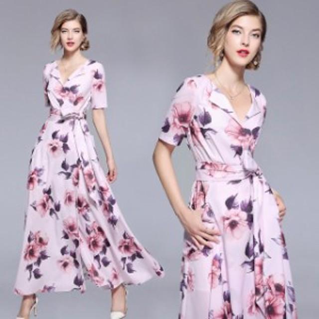 パーティドレス 結婚式ドレス 二次会 お呼ばれ 20代 30代 40代 ワンピース  パーティに花柄ワンピースドレス