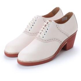 ディガウト DIGOUT SUZY (Chunky Heels Saddle Oxford Shoes) (WHITE)
