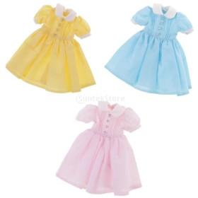 1/6スケール 12インチ ブライスドール用 ドレス 服装 12.5cm 全3色セット 人形服