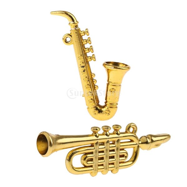 Dollhouse Miniature 1:12 Scale Musical Instrument Saxophone Mini Life Scene \