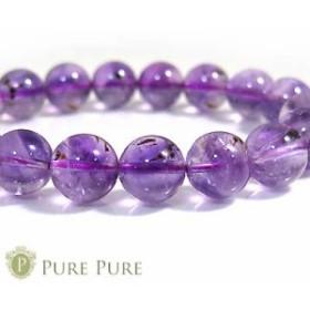 ゲーサイトインアメジスト ブレスレット 天然石 パワーストーン ブレスレット 紫水晶 アメジスト ブレス 11mmUP