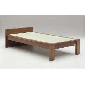 畳ベッド〔ベッドフレームのみ〕〔スミカ〕 (シングル・ブラウン・フラットタイプ) グランツ GLANZ〔代引不可〕【配達日時指定不可】
