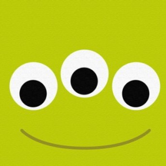 リトルグリーンメン アートパネル ディズニー pix-0062 Mサイズ 30cm×30cm lib-4992578s1 北欧/インテリア/セール/モダン/送料無料/激
