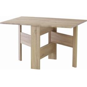 フォールディングダイニングテーブル/折りたたみテーブル 〔幅120cm〕 ナチュラル 木目調 『フィーカ』 FIK-103NA【配達日時指定不可】