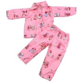 全10種類選ぶ 18インチ アメリカンガール人形適用 可愛い 布製 パジャマ 寝間着 女の子 ドール用 服  - #10