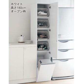 ゴミ箱 キッチン ベルメゾン 消臭機能付きタワー型分別ダストボックス ホワイト