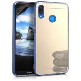 送料無料 ミラーケース Huawei P20 Lite TPU シリコンケーススマホカバー 保護ケース ゴールド