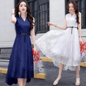 夏新作 夏服 パーティドレス 結婚式ドレス 二次会 お呼ばれ 20代 30代 40代 ワンピース  ドレス ワンピース ロング丈 ノースリーブ