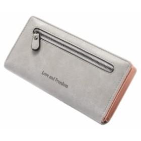財布 レディース 長財布 ファスナー付 大容量 ウォレット 財布の大きさ 2つのオプション