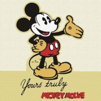 ミッキーマウス dsny-1710-16 アートパネル Mサイズ 30cm×30cm ディズニー lib-5885308s1 北欧/インテリア/セール/モダン/送料無料/激