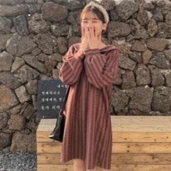 夏新作 夏服 ワンピ―ス ブラウス シャツ ストライプ