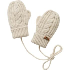 ミキハウス ケーブル編みニットミトン(手袋) アイボリー