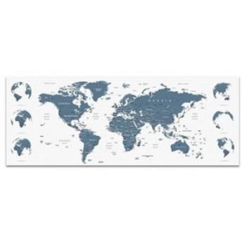 世界地図 ウォールデコ popa-w-1612-01 ワイドサイズ アートパネル アートデリ ワイドサイズ 30cm×78.5cm lib-5364982s1 北欧/インテリ