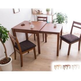 W80伸縮式ダイニングテーブル 単品 伸張式 幅80 ダイニング 角型 ダイニングチェア 木製テーブル 木目 伸ばせる 拡張 代引不可