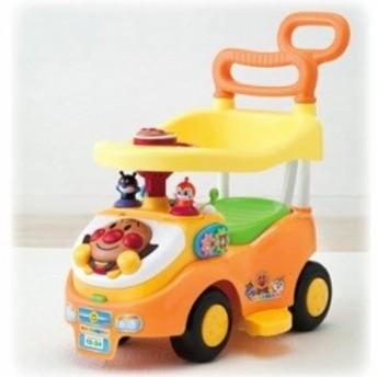 送料無料 アンパンマン よくばりビジーカー 押し棒+ガード付き おもちゃ こども 子供 知育 勉強 0歳10ヶ月~