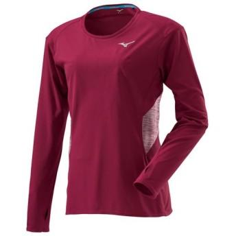 MIZUNO SHOP [ミズノ公式オンラインショップ] ブレスサーモランニングTシャツ(長袖)[レディース] 63 ビートレッド J2MA8700