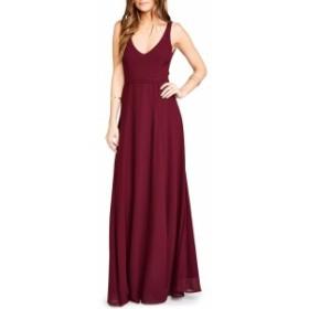ドレス フォーマルドレス パーティドレス レディース【SHOW ME YOUR MUMU Jen Maxi Gown】Merlot Chiffon