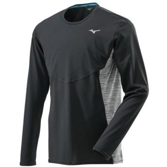 MIZUNO SHOP [ミズノ公式オンラインショップ] ブレスサーモランニングTシャツ(長袖)[メンズ] 09 ブラック J2MA8500