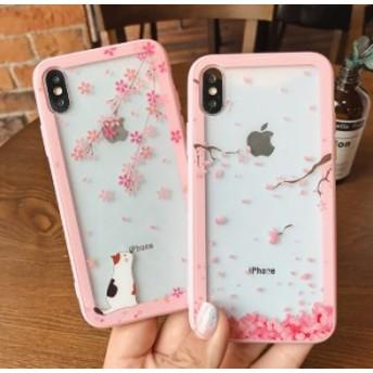 iphone6s Plus/iPhone6 Plus/iPhone7 Plus/iPhone7/iPhone8 Plus/iPhone8/iPhoneXケース花柄透明キラキラケース【xg28】