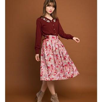 <Lily Lulu/リリー ルル> 大きいサイズ 【オンラインストア限定ブランド】 スカート(188-130468)(クローバー) ピンク 【三越・伊勢丹/公式】